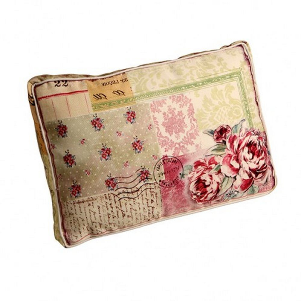Almofada Decorativa de tecido com enchimento Patch Work Floral