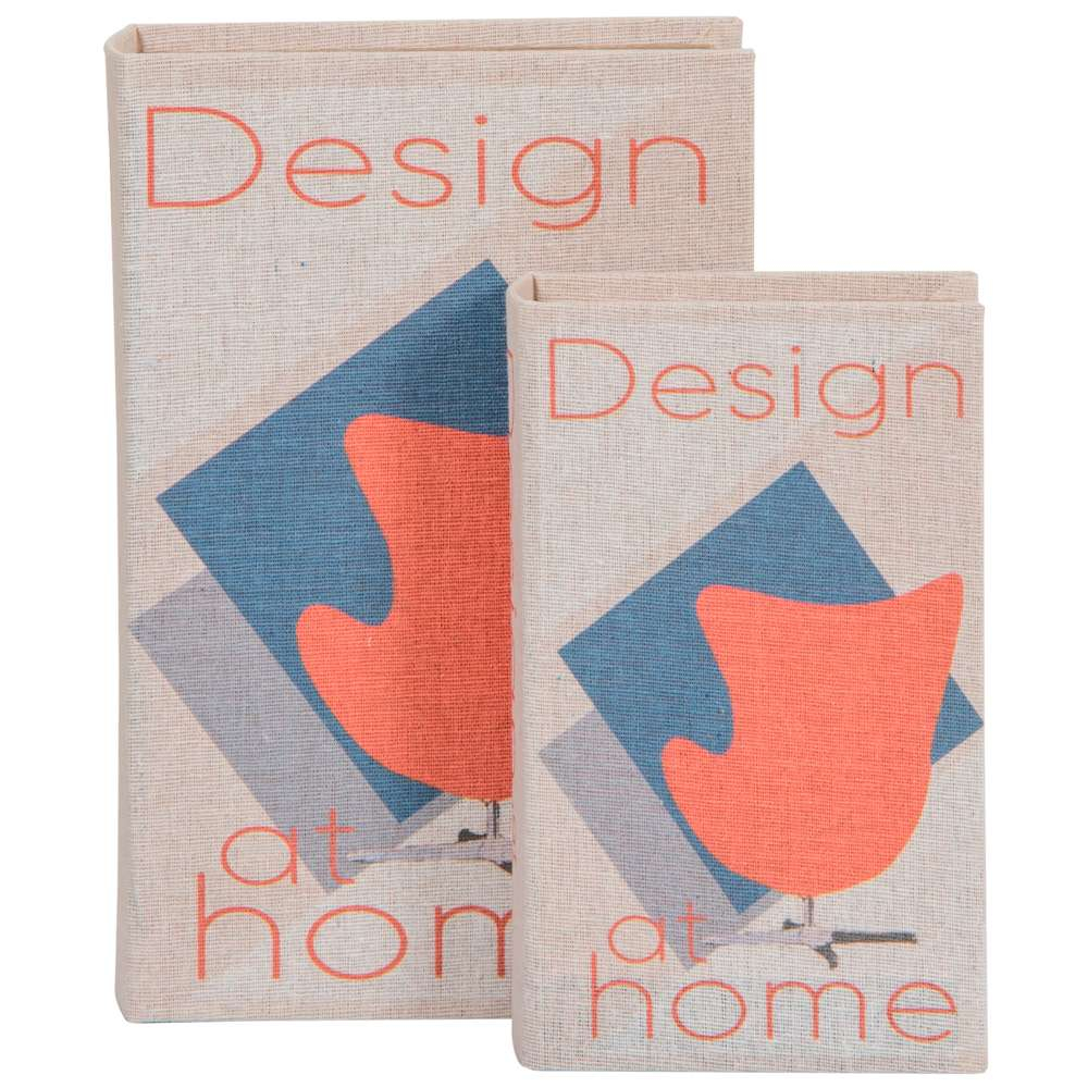 Conjunto de Livros Decorativos Design at Home