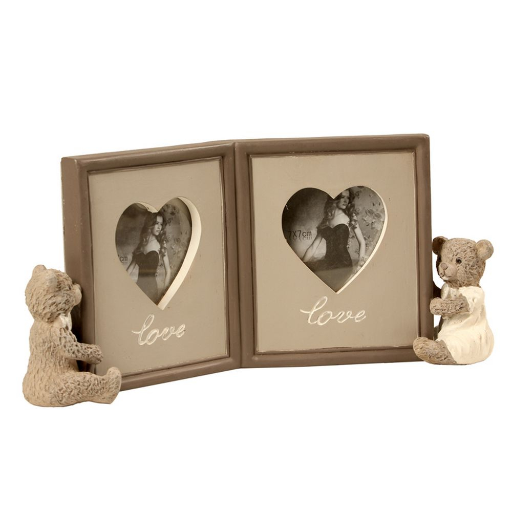 Porta-Retrato de Resina Decorativo Lovely Bears