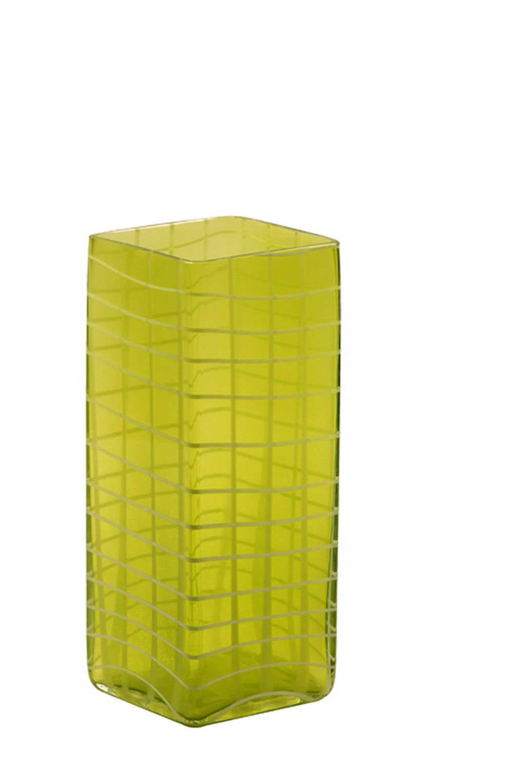 Vaso de Vidro Decorativo Green Check Grande