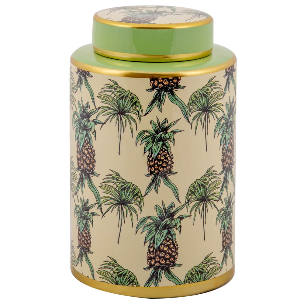 Vaso Decorativo de Porcelana Rondon - Linha Pineapple
