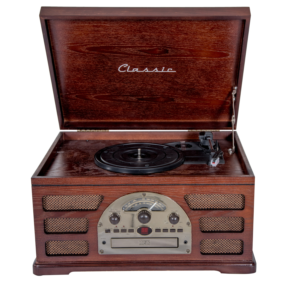 Toca Disco Vinil Woodburn Bluetooth