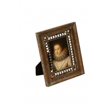 Porta-Retrato de Metal Decorativo Attic com Pedras