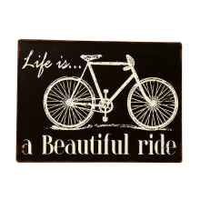 Placa de Metal Decorativa Vintage Ride