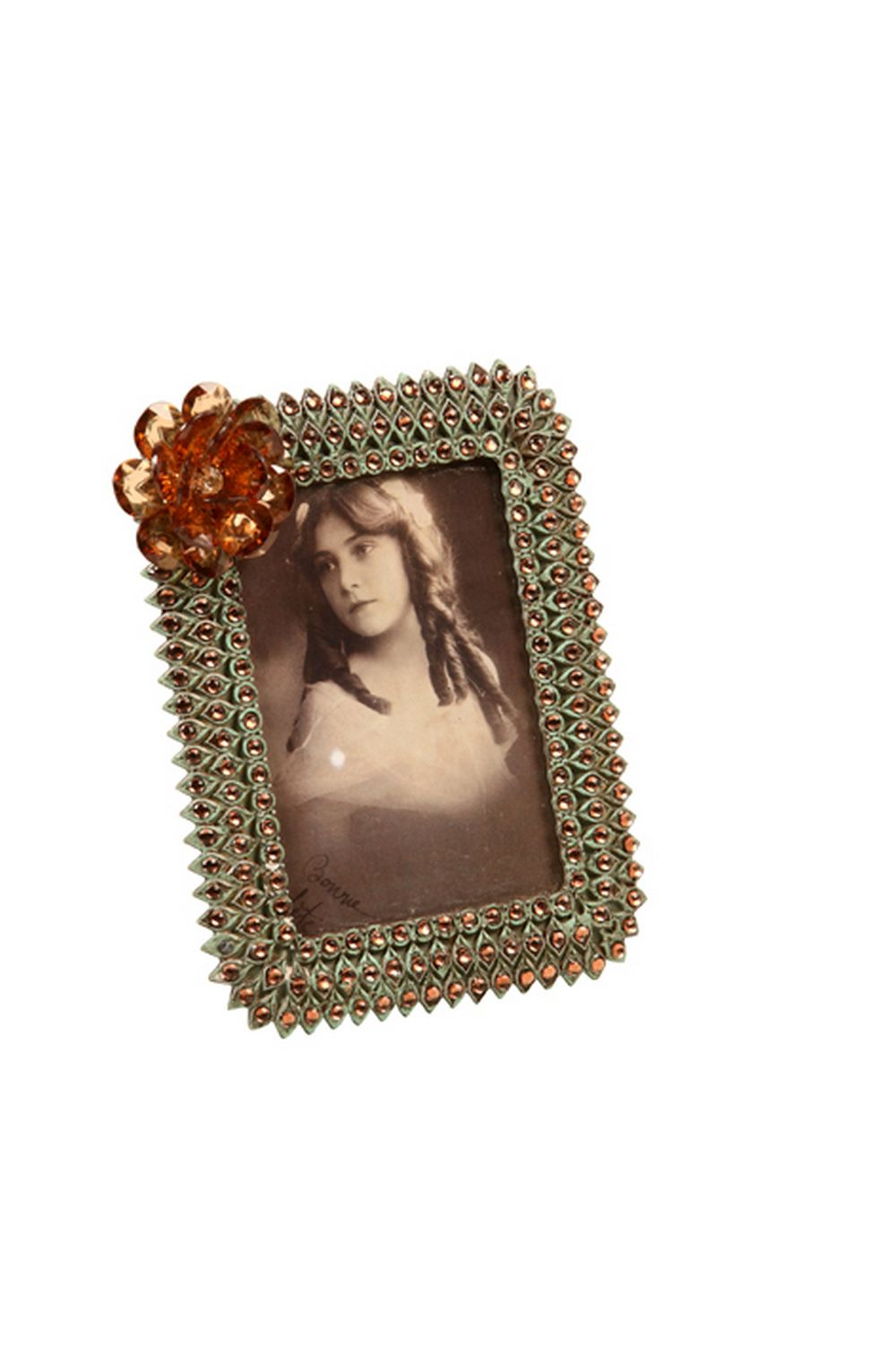 Porta-Retrato De Metal Decorativo Sheen Com Pedras